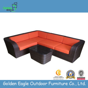 Outdoor L Shaped Sofa Rattan Living Room Sofa