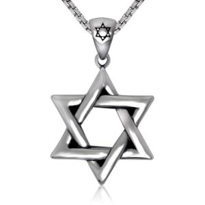 Hexagram Men Necklace Pendant Stainless Steel Fashion Jewelry