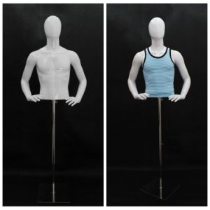 Male Half Body Mannequin for Store Dress
