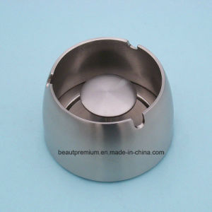 Popular Customized Logo Round Stainless Steel Ashtray with a Base BPS0193
