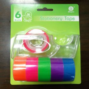 PP Core Colored Tape + Dispenser in Blister Card pictures & photos