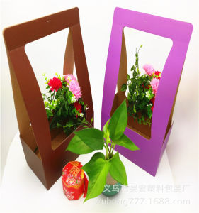 Luxury Round Cylinder Flower Packaging Paper Box for Flower with Handle pictures & photos