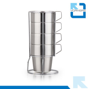 Coffee Cup Set Stainless Steel 4PCS Set Tea Mugs pictures & photos