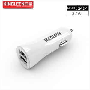 Kingleen Model C902 Dual USB Smart Battery Car Charger for Phone 5V2.1A Combo Produced by The Original Factory