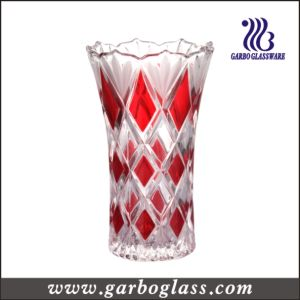 Diamond Pattern Glass Vase for Wedding Party pictures & photos