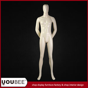 Hot Sale High Quality Full Body Abstract Male Mannequin in Color Cream
