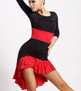 Half Sleeve Salsa/Latin Practice Dress for Women pictures & photos