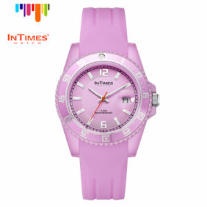 Intimes It-066 Hand Watch for Girl Original Design Plastic Case Silicon Band Japan Movement Quartz Watch
