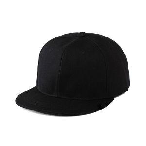 c1ce421e521d China Black Custom Flat Bill 6 Panel Blank Snapback Hats - China 6 ...