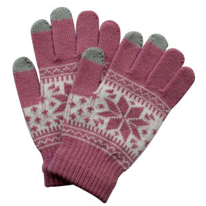 Lady Fashion Knitted Winter Warm Touch Screen Magic Gloves (YKY5457) pictures & photos