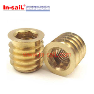 8-32 Threaded Insert for Wood/Plastic Solid Brass pictures & photos