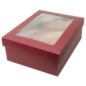 Custom Cellophane Window Gift Paper Box with Clear Lid pictures & photos