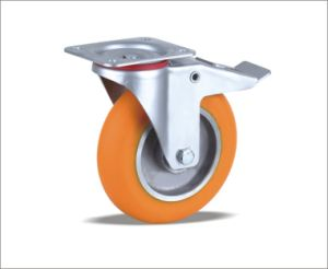 Wholesale China Ball Bearing PU Caster pictures & photos