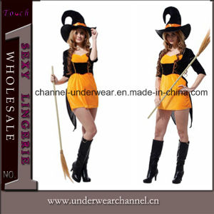2015 Women Witch Party Fancy Dress Holiday Halloween Costume (TGW0107) pictures & photos