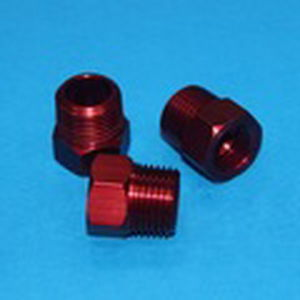 CNC Machinery Aluminum Parts with Red Anodizing