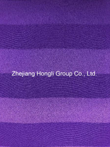 Striped 100% Polyester Cation Fabric for Ladies′ Garment