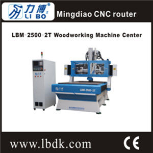 2016 Vacuum Adsorption Woodwrking CNC Router Lbm-2500-2t