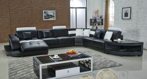Modern Home Furniture Leather Living Room Corner Sofa pictures & photos