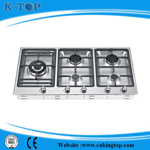 Cast Iron Gas Cooker with S/S Panel 5 Burner