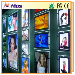 Hanging Advertising Acrylic Poster Frame LED Light Box (CSH03) pictures & photos