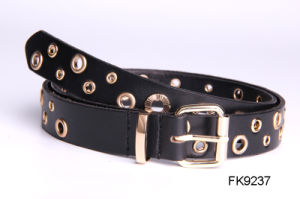 Black Ladies Fashion Hollow out Style Belts, Fashion Accessories Leather Waist Belt