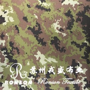 600d 74t Italy Camouflage PU/PVC Coated Oxford Water Repellent Used for Bags pictures & photos