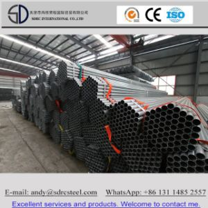 Hot DIP Galvanized ERW Welded Round Carbon Steel Pipe pictures & photos