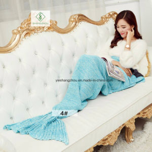 180cm*90cm Crochet Mermaid Tail Blanket Soft Sleeping Bag Knitted Blanket pictures & photos