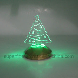 safe using wholesale battery powered multicolor elegant birthday acrylic christmas tree led light gift