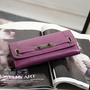 Brand Genuine Leather Wallet Classical Clutch Women Purse Emg4736 pictures & photos
