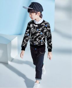 Boy′s Simple Lovely Cool Scrawl Hoodies pictures & photos
