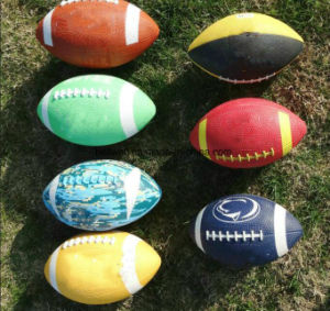 2017 New Design American Football Inflatable Rubber Rugby Ball pictures & photos