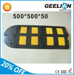 reflective driveway safety industrial rubber speed bump - Rubber Speed Bumps