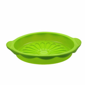 Sunflower Shaped Food Grade Silicone Cake Mold Food Plate Pizza Pan pictures & photos