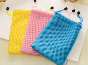 Wholesale Mesh Cell Phone Drawstring Bag (M09)