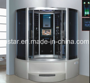 1500mm Sector Pearl Steam Sauna with Jacuzzi and Tvdvd (AT-G9051TVDVD) pictures & photos