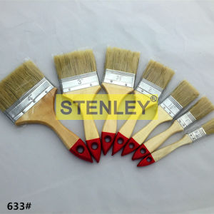 Paint Brush Wooden Handle with Natural Bristle