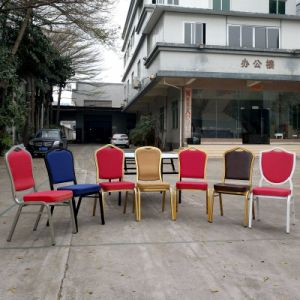 Wholesale Fabric Golden Frame Hotel Chair Steel Banquet Chair pictures & photos