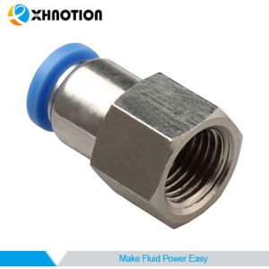 Pneumatic Plastic Push in Fitting Tube to Thread Female Straight Nickel-Plated Brass Fitting  sc 1 st  Ningbo XHnotion Pneumatic Technology Co. Ltd. & China Pneumatic Plastic Push in Fitting Tube to Thread Female ...