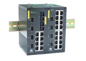 Gigabit Fiber Industrial Switch with 4G Ports