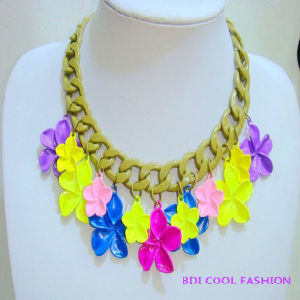 Flower Pendant Choker, Hot Selling Fashion Jewelry