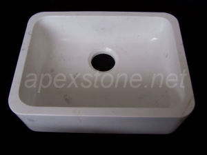 White Engineered Marble Sink