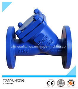 Dn50 DIN Cast Steel Flanged Y Strainer with Epoxy Coating pictures & photos