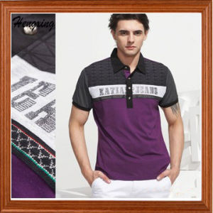 Printing Elastic Cotton Polo T-Shirt pictures & photos