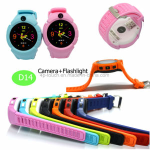 Sos Button Kids GPS Watch Tracker with Flashlight&Camera D14 pictures & photos