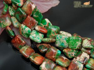 Green Sea Sediment Jasper Beads