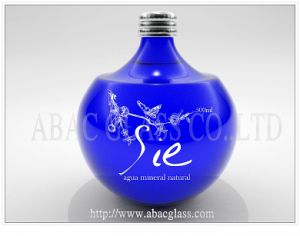 Blue Water Glass Bottle