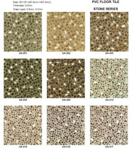China Stone Vinyl Floor Tiles China Anti Slip Pvc