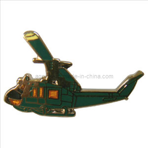 Helicopter Gold Metal Pin Badge in Quick Turnaround Time (badge-093) pictures & photos