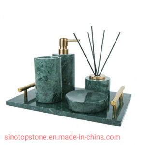 Green Marble Bathroom Accessory Sets, Marble Bathroom Accessories Sets